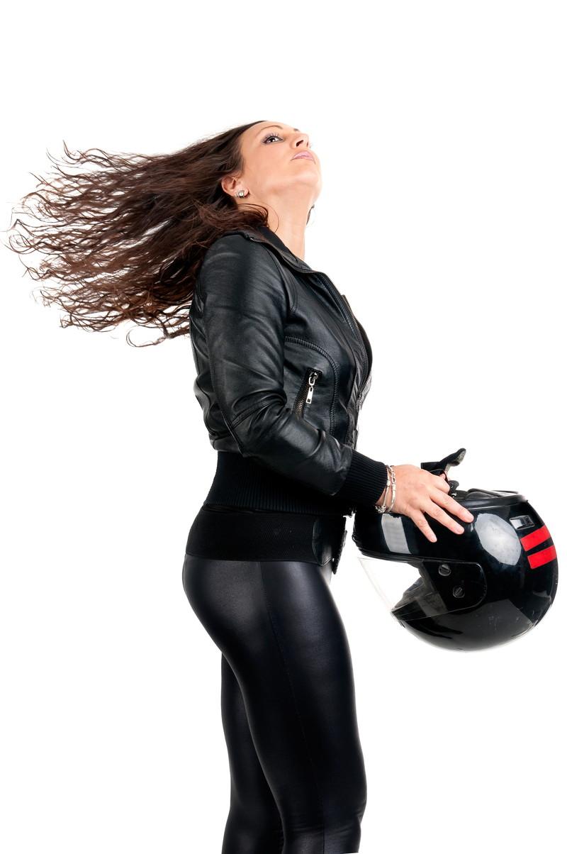 女性バイカー